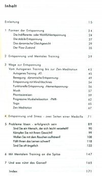 Inhalt Buch Mentales Training